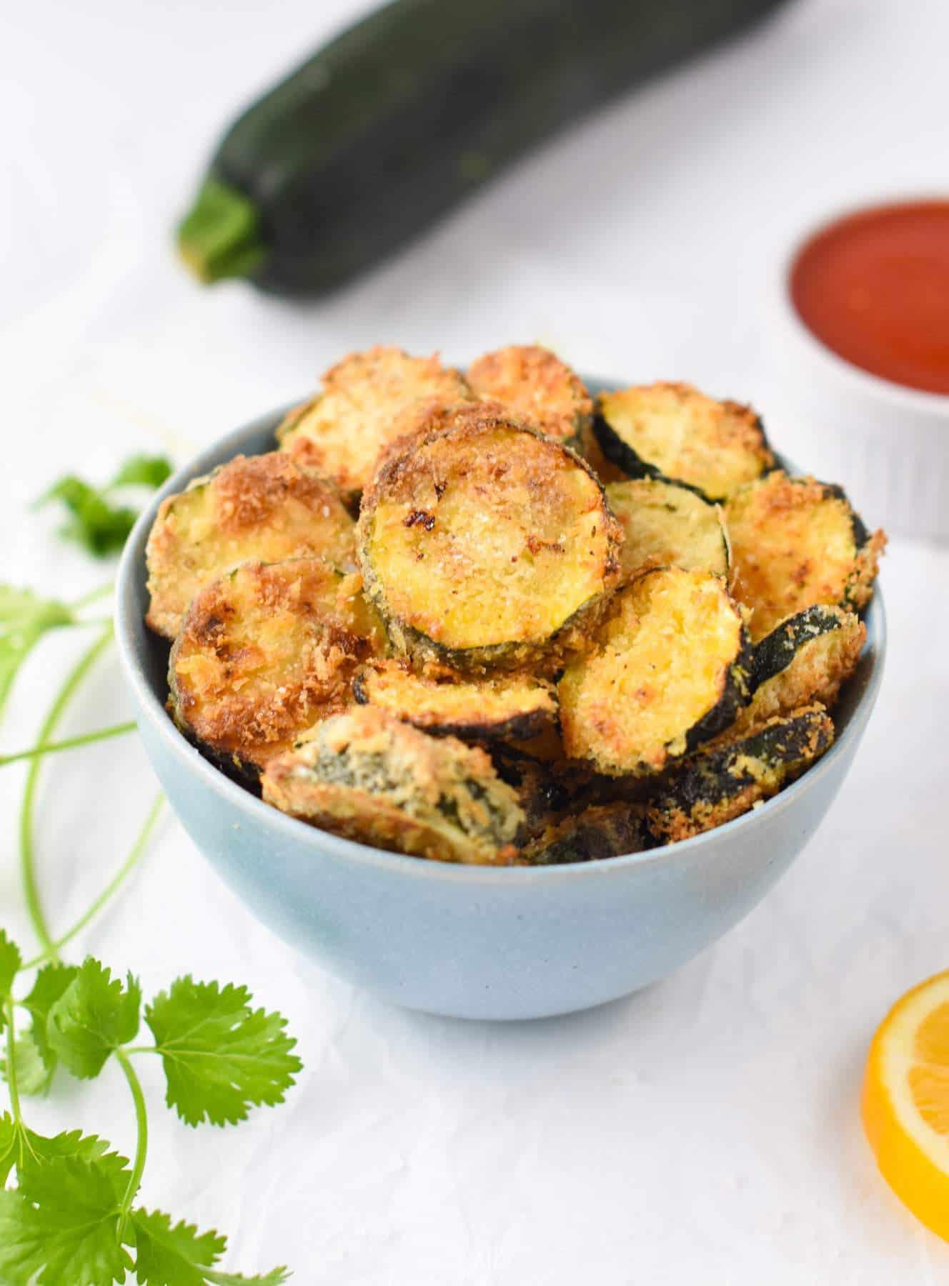 Vegan Air Fryer Zucchini Chips Recipe