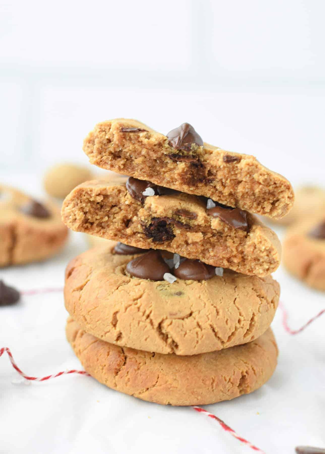 Vegan Protein Chocolate Chip Cookies
