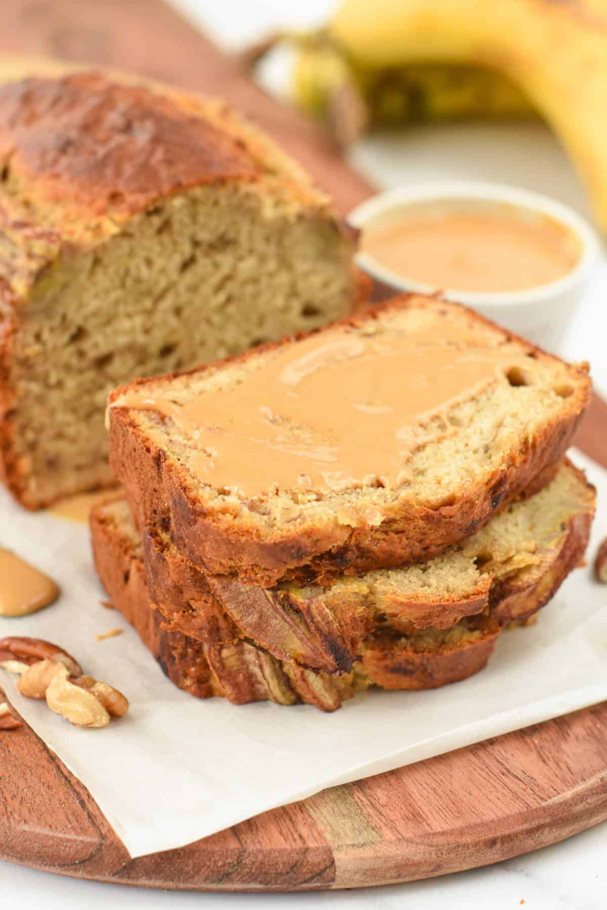 4 ingredient Banana Bread with Self raising flour