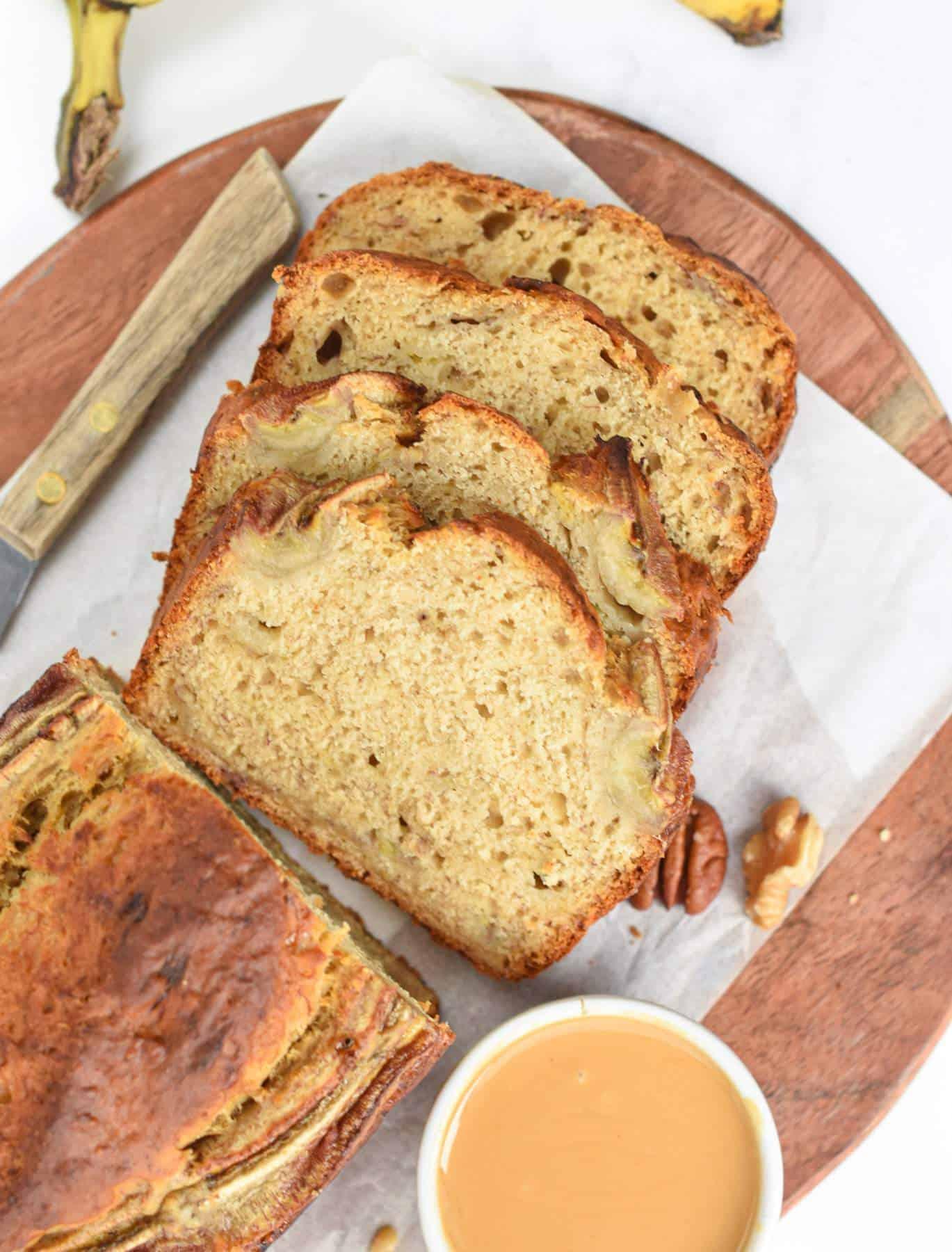 4 ingredient Banana Bread