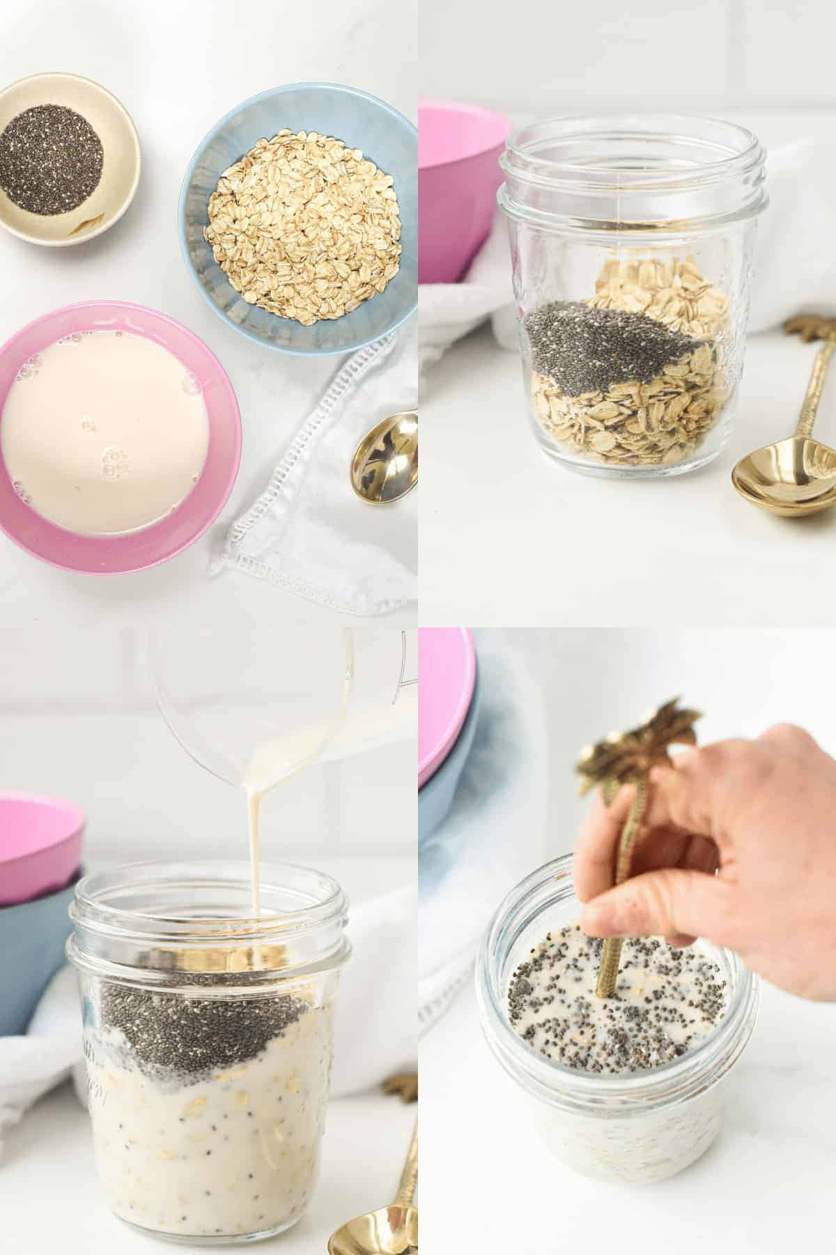 How to make Overnight Oats in a glass mason jarHow to make Overnight Oats in a glass mason jar