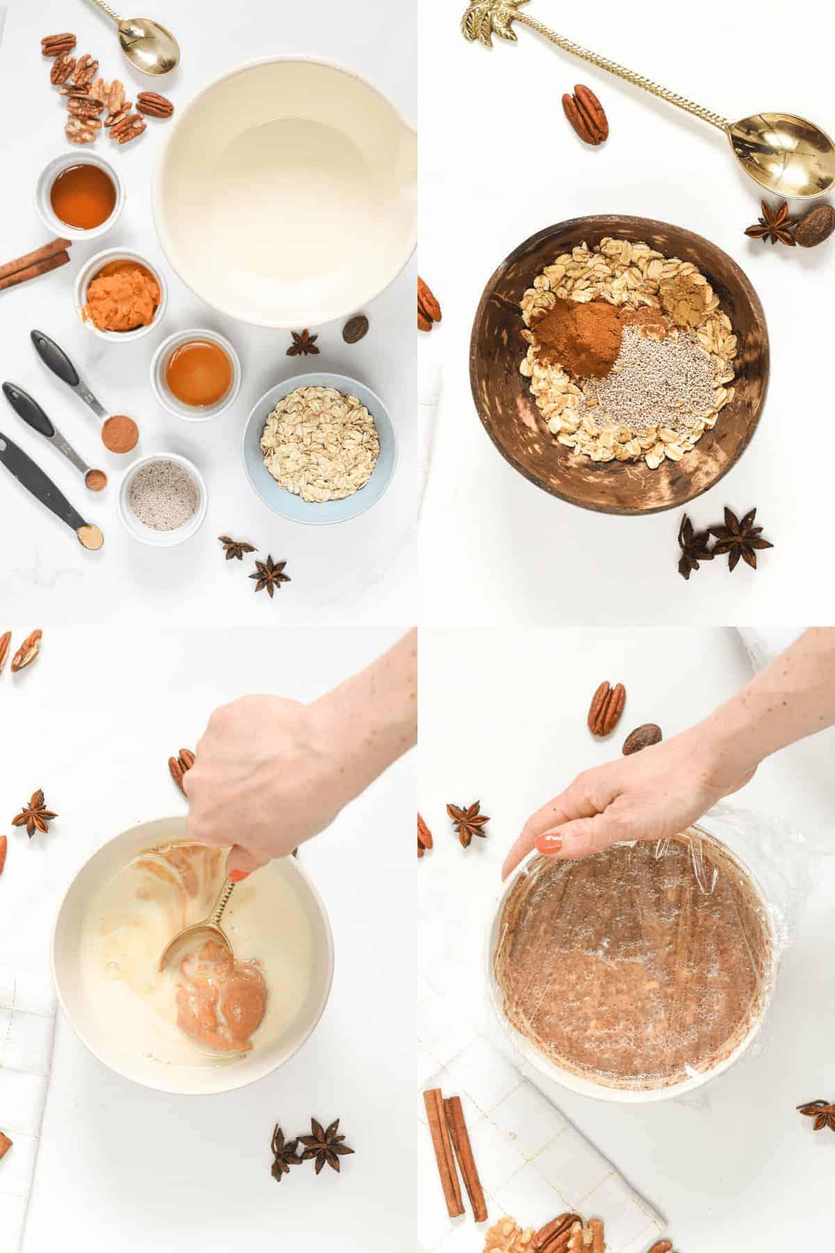 How to make Pumpkin Overnight Oats
