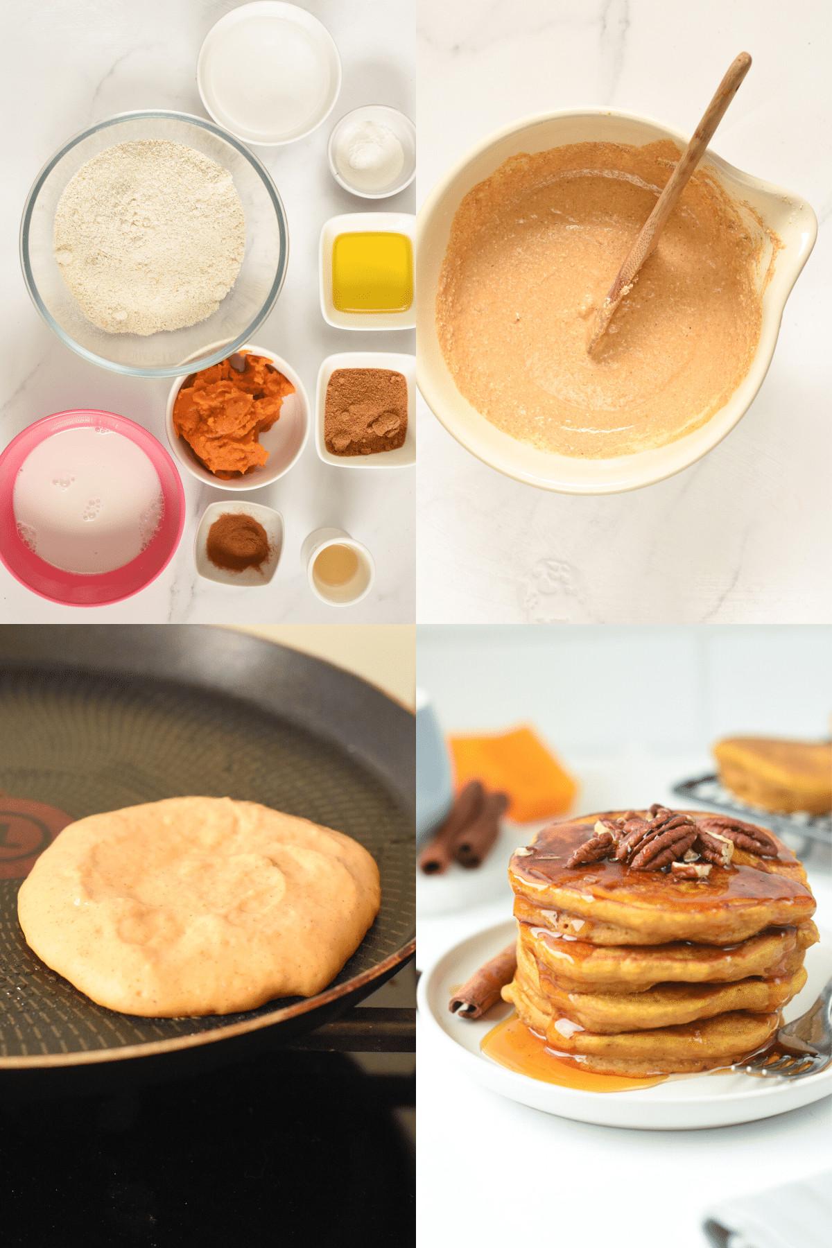 How to make vegan pumpkin PANCAKES