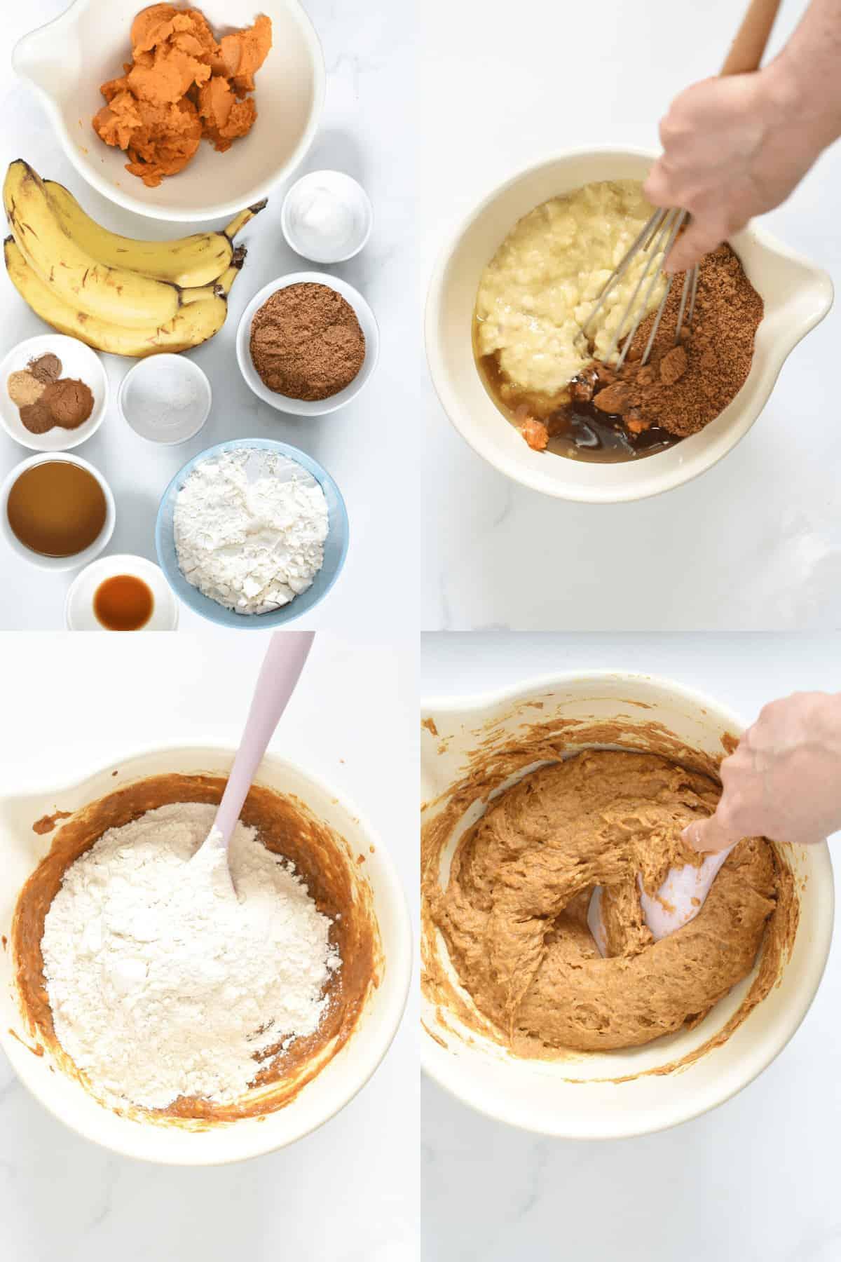 How to make vegan pumpkin banana bread