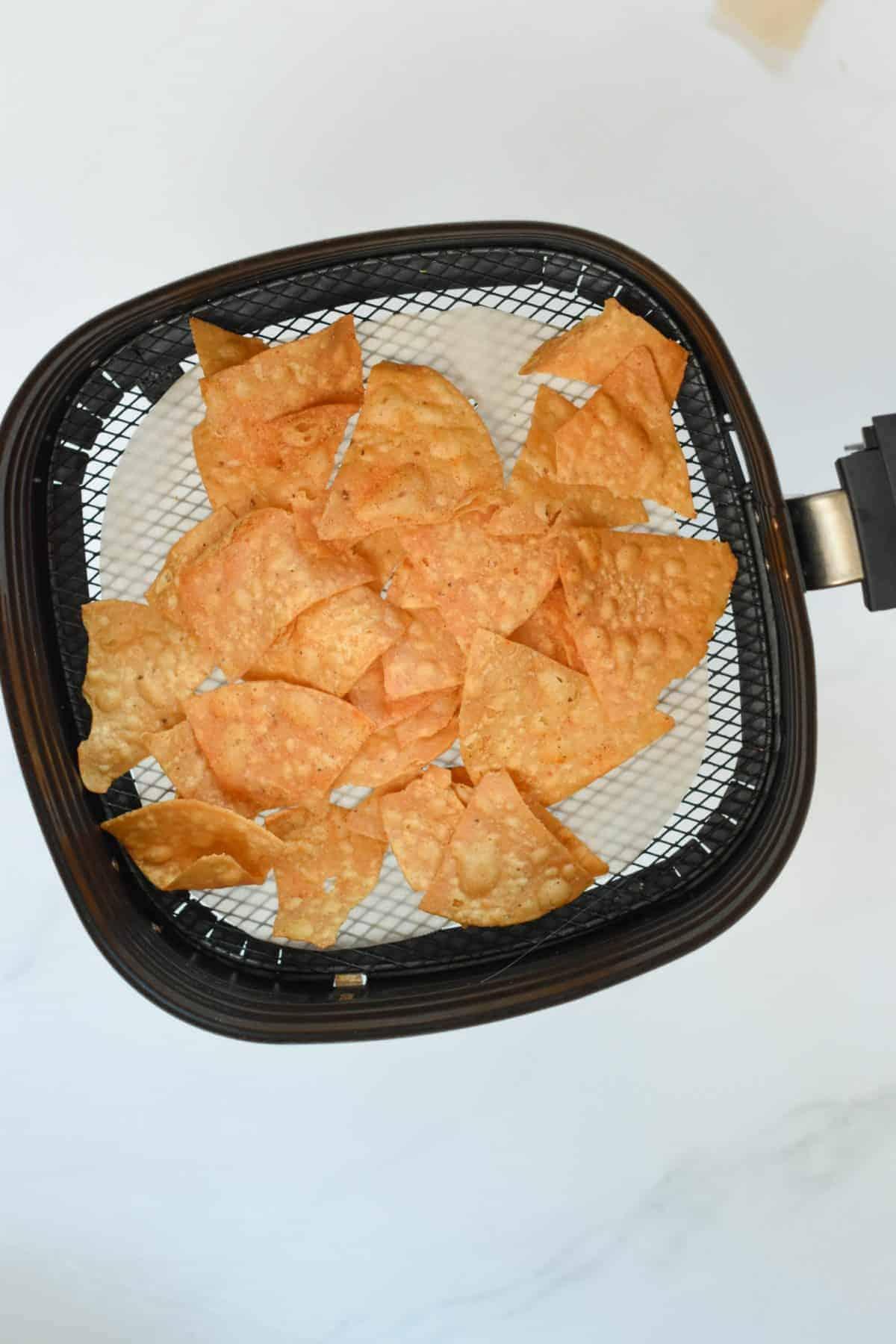 Parchment paper tortillas chips