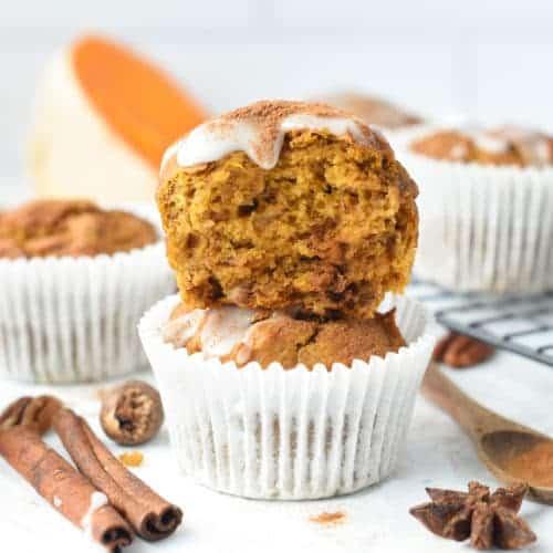 Vegan Banana Pumpkin Muffins