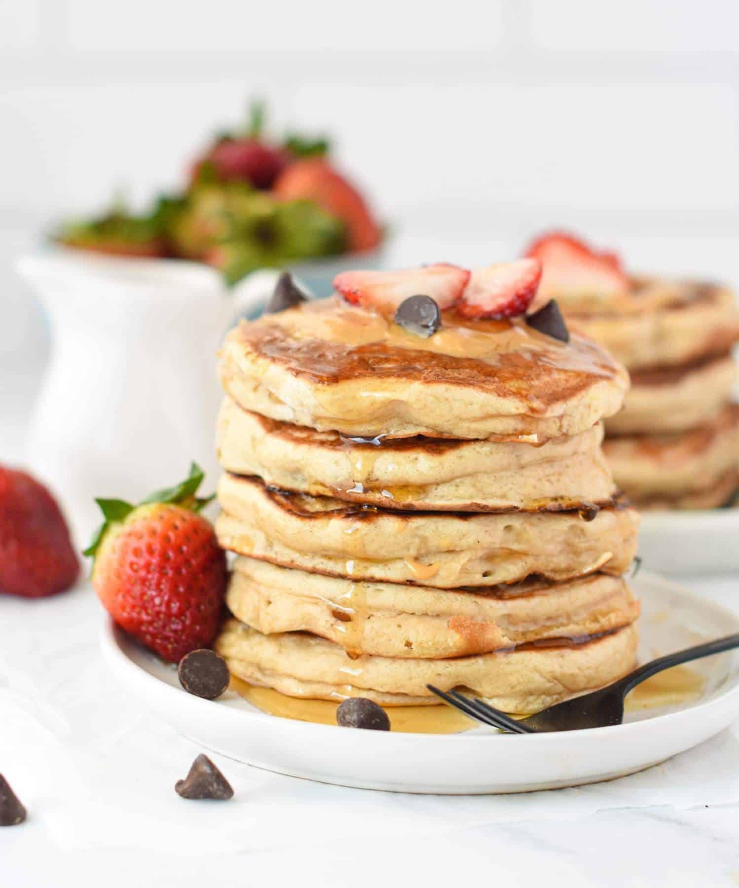 Vegan pancakes with protein powderVegan pancakes with protein powder