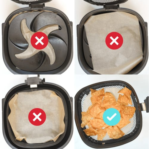 Where to put parchment paper in the air fryer