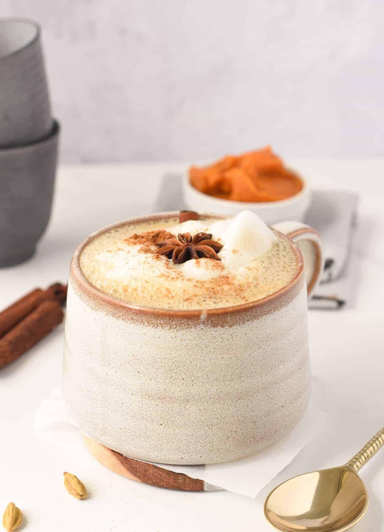 Vegan Pumpkin Spice Chai Latte